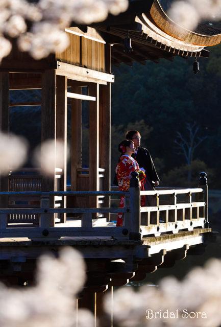 浮見堂 ロケフォト 結婚式