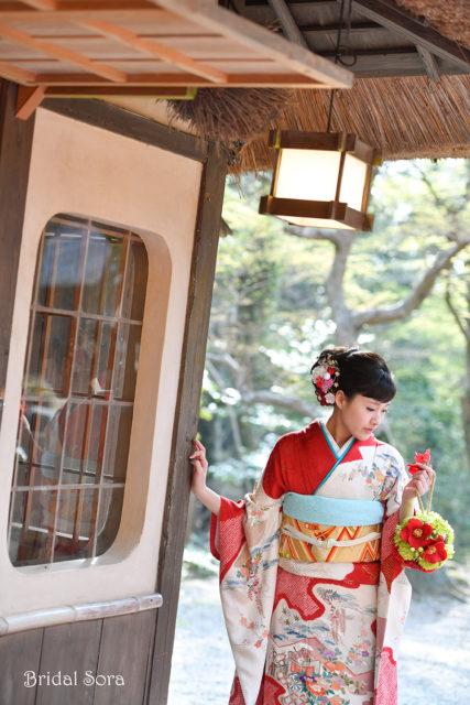 奈良公園 成人式 振袖