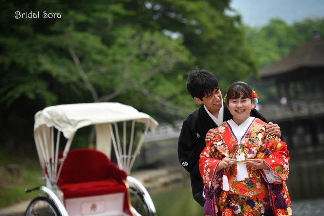 奈良公園 人力車 前撮り