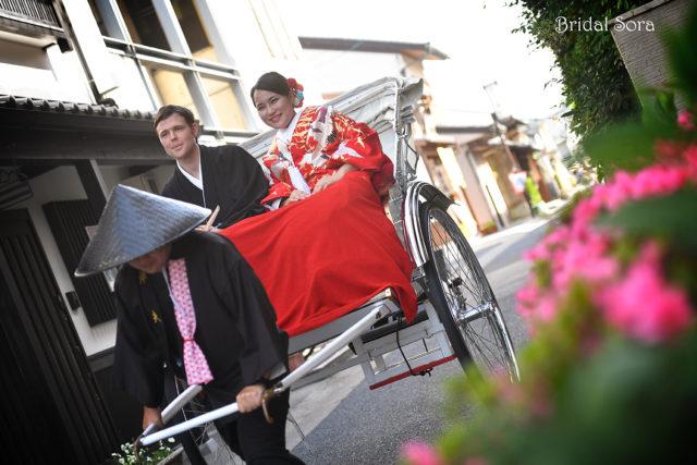 奈良 結婚式 人力車